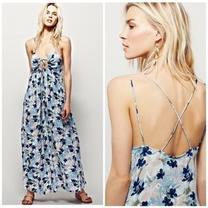 Free People Mulberry Strappy Maxi Dress